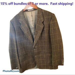 Yves Saint Laurent YSL vtg 46R houndstooth jacket